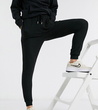 ASOS DESIGN Petite supersoft slim leg jogger in black