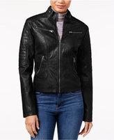 Maralyn & Me Faux-Leather Moto Jacket