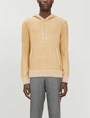 Ermenegildo Zegna Ribbed cotton, wool and silk-blend knitted hoody