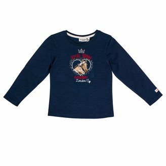 Salt&Pepper Salt and Pepper Girls' Horses Royal Riding Academy Pferdekopfe Longsleeve T-Shirt