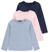 George 3 Pack Assorted Long Sleeve T-shirts