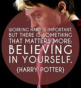 """Go Awesome Working Hard is Important....""""Harry Potter"""" Poster 12x18 inch"""