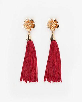 Le Château Gem Tassel Drop Earrings