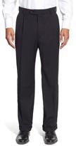 Ballin Men's Pleated Solid Wool Trousers