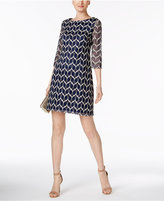 Jessica Howard Elbow-Sleeve Lace Shift Dress