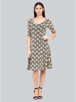 M&Co Izabel floral lace skater dress