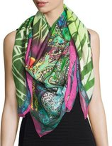 Etro Multipattern Voile Square Scarf