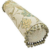 Rose Tree Antibes Tasseled Floral & Animal-Print Neckroll Pillow
