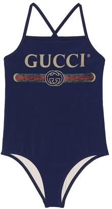 Gucci Kids Logo one-piece swimsuit