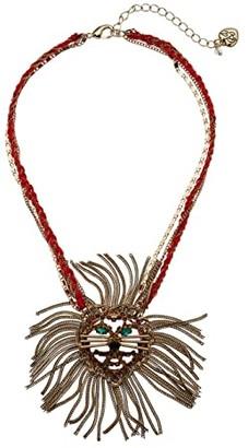 Betsey Johnson Lion Pendant Necklace (Light Colorado) Necklace