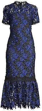 Shoshanna Women's Talisa Short-Sleeve Embroidery Flounce Dress - Size 0