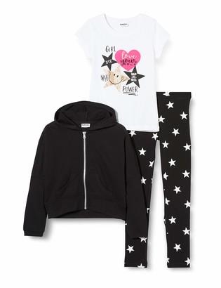 MEK Girl's Tuta 3pz Full Zipp.c/Legging+t-Shirt Tracksuit
