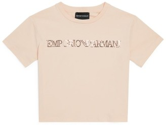 Emporio Armani Kids Sequin Logo T-Shirt (4-14 Years)