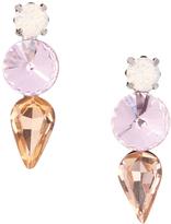 Love Rocks Pink Crystal Trio Drop Earrings