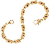 "Judith Ripka As Is 14K 0.50 cttw Gemstone & Diamond 7-1/4"" Bracelet, 19.6g"