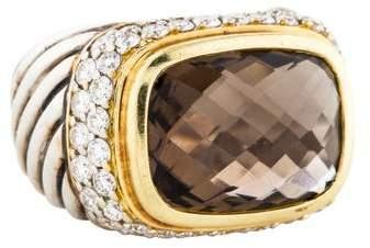 David Yurman Diamond & Smoky Quartz Cocktail Ring