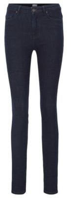 BOSS Skinny-fit jeans in rinse-washed red-cast stretch denim