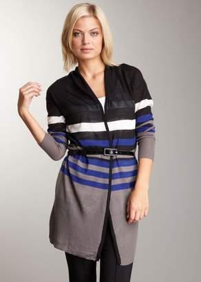Vertigo Belted Stripe Cardigan