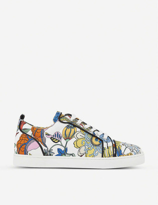 Christian Louboutin Louis Junior crepe satin trainers