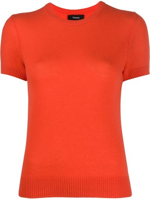 Theory Short Sleeve Fine Knit Top