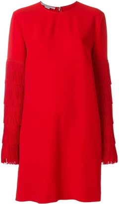 Stella McCartney Fringe Sleeve Sweater Dress