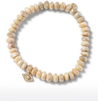 Sydney Evan 14k Pearl Evil Eye Moonstone Bracelet