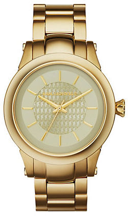 Karl Lagerfeld Slim Chain Gold-Tone Watch