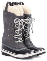 Sorel Joan of Arctic shearling-trimmed suede and rubber boots