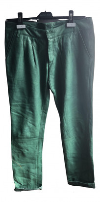 Swildens Green Leather Trousers
