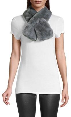 Saks Fifth Avenue Faux Fur Pull-Through Scarf