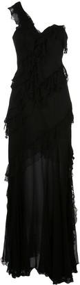AMUR asymmetric maxi dress