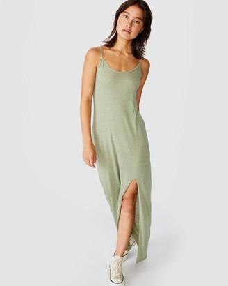 Cotton On Alessandra Strappy Split Front Midi Dress