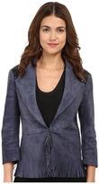 CNC Costume National Suede/Leather Jacket w/ Fringe