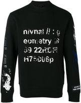 Lanvin faded stamp print sweatshirt - men - Cotton/Polyamide/Polyester - XS