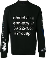 Lanvin faded stamp print sweatshirt