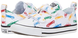 Converse Chuck Taylor(r) All Star(r) 2V Ox (Infant/Toddler) (White/Blue/Red) Kid's Shoes