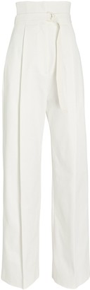 Philosophy di Lorenzo Serafini Belted Cotton Wide-Leg Pants