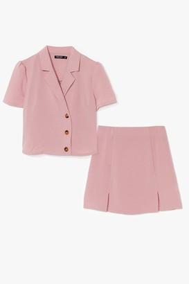 Nasty Gal Womens What's Slit Gonna Be High-Waisted Mini Skirt - Rose