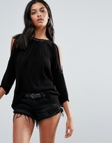 B.young 3/4 Sleeve Boxy Top