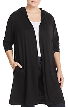 Marc New York Plus Marc New York Performance Plus Hooded Duster Cardigan