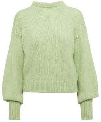 Paloma Wool Noche Perkins High-Neck Alpaca-Blend Sweater