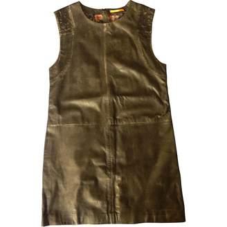 BOSS ORANGE Khaki Leather Dress for Women