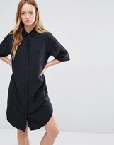 NATIVE YOUTH Cupro Shirt Dress