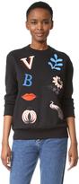 Victoria Victoria Beckham Patch Applique Sweatshirt