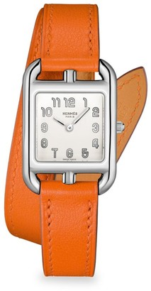 Hermes Cape Cod 23MM Stainless Steel & Leather Strap Watch