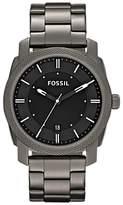 Fossil FS4774 Men's Machine Date Bracelet Strap Watch, Gunmetal/Black