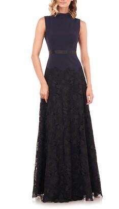 Kay Unger Ellie Lace A-Line Gown
