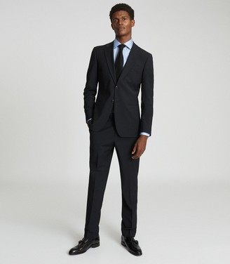 Reiss Hope - Modern Fit Travel Blazer in Black