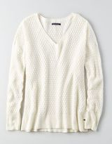 American Eagle AEO Textured V-Neck Jumper