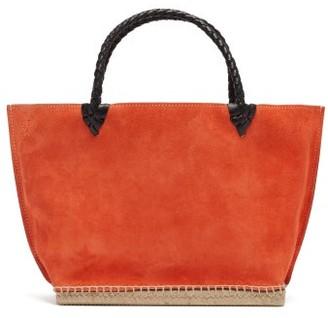 Altuzarra Espadrille Small Suede Tote Bag - Womens - Orange